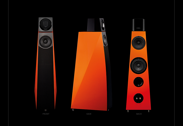 The Kawero! Vivace 3-way bass reflex loudspeaker, with adjustable air motion transformer tweeter.<br />Panzerholz body. Laser precision craftsmanship. Made in Germany by <b>Kaiser Akustik</b>.