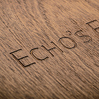 The Echo's End lettering is precision engraved on the top of the unit.