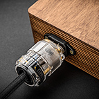 The power inlet into Echo's End is mated directly into wood. This results is the very best micro-vibration damping and serves to preserve the organic, natural sound quality we strive for.